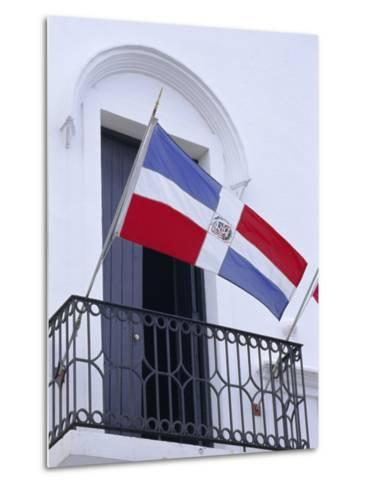 National Flag, Dominican Republic, Caribbean, West Indies-Guy Thouvenin-Metal Print