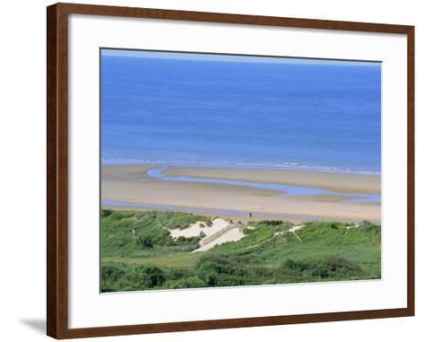 Omaha Beach (D-Day WWII), Colleville-Sur-Mer, Calvados, Normandy, France-Guy Thouvenin-Framed Art Print
