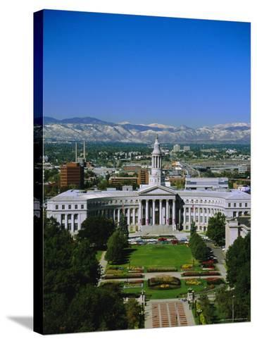 The Civic Center and Rockies Beyond, Denver, Colorado, USA-Jean Brooks-Stretched Canvas Print