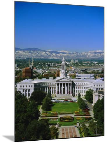 The Civic Center and Rockies Beyond, Denver, Colorado, USA-Jean Brooks-Mounted Photographic Print