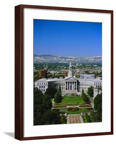 The Civic Center and Rockies Beyond, Denver, Colorado, USA-Jean Brooks-Framed Art Print