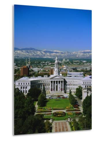The Civic Center and Rockies Beyond, Denver, Colorado, USA-Jean Brooks-Metal Print