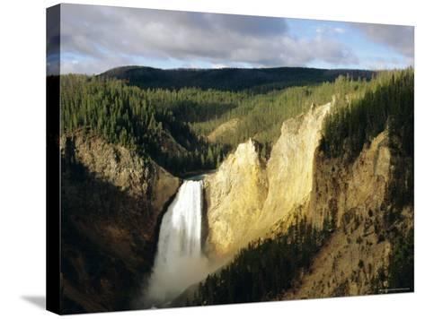 Lower Falls, Grand Canyon, Yellowstone National Park, Wyoming, USA-Jean Brooks-Stretched Canvas Print