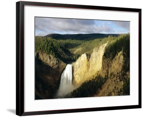 Lower Falls, Grand Canyon, Yellowstone National Park, Wyoming, USA-Jean Brooks-Framed Art Print