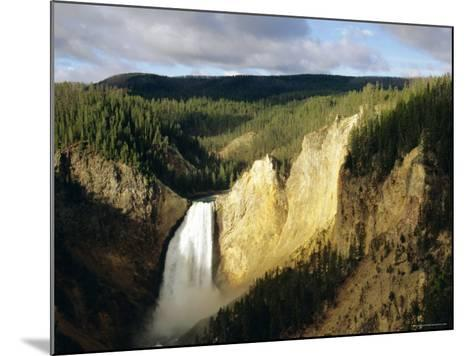 Lower Falls, Grand Canyon, Yellowstone National Park, Wyoming, USA-Jean Brooks-Mounted Photographic Print