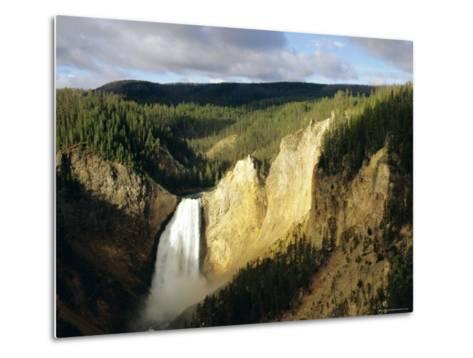 Lower Falls, Grand Canyon, Yellowstone National Park, Wyoming, USA-Jean Brooks-Metal Print