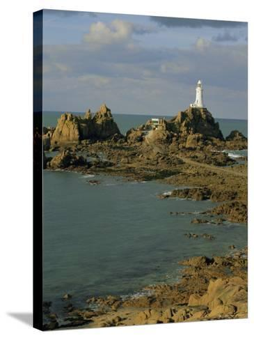 Corbieres Lighthouse, Jersey, Channel Islands, UK, Europe-Jean Brooks-Stretched Canvas Print