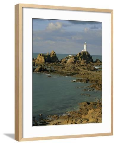 Corbieres Lighthouse, Jersey, Channel Islands, UK, Europe-Jean Brooks-Framed Art Print