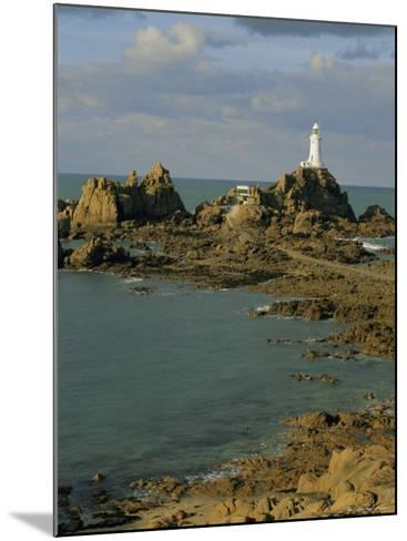 Corbieres Lighthouse, Jersey, Channel Islands, UK, Europe-Jean Brooks-Mounted Photographic Print