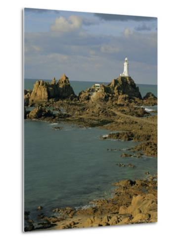 Corbieres Lighthouse, Jersey, Channel Islands, UK, Europe-Jean Brooks-Metal Print