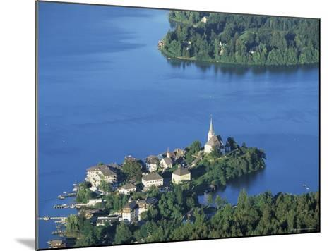 Maria Worth from Pyramidenkogel, Lake Worther, Carinthia, Austria, Europe-Jean Brooks-Mounted Photographic Print