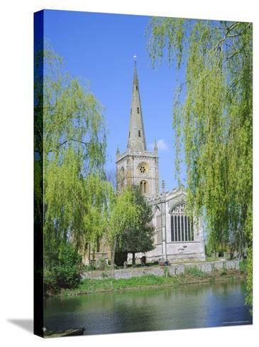 Holy Trinity Church from the River Avon, Stratford-Upon-Avon, Warwickshire, England, UK, Europe-David Hunter-Stretched Canvas Print