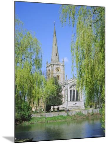 Holy Trinity Church from the River Avon, Stratford-Upon-Avon, Warwickshire, England, UK, Europe-David Hunter-Mounted Photographic Print
