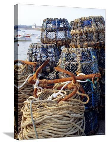 Lobster Pots, Normandy, France-Michael Busselle-Stretched Canvas Print