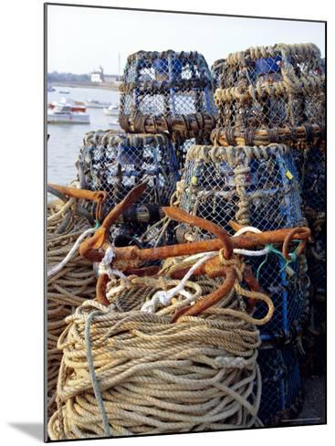 Lobster Pots, Normandy, France-Michael Busselle-Mounted Photographic Print
