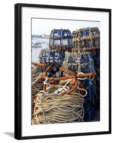 Lobster Pots, Normandy, France-Michael Busselle-Framed Art Print