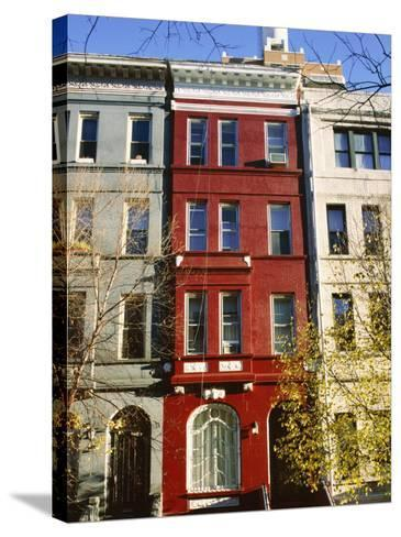 Brownstone, Upper West Side, New York City, New York, USA-Ethel Davies-Stretched Canvas Print
