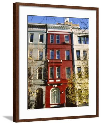 Brownstone, Upper West Side, New York City, New York, USA-Ethel Davies-Framed Art Print