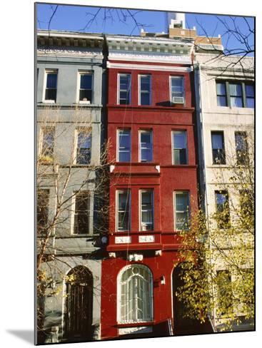 Brownstone, Upper West Side, New York City, New York, USA-Ethel Davies-Mounted Photographic Print