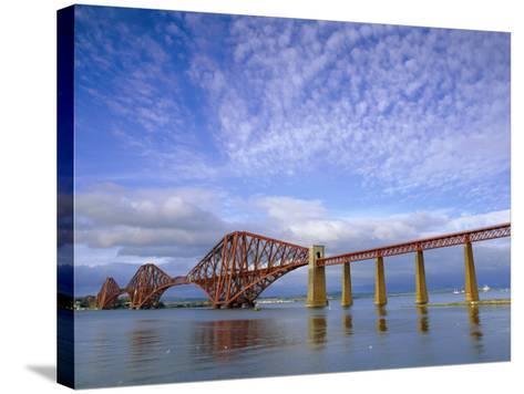 Forth Railway Bridge Over the Firth of Forth, Queensferry Near Edinburgh, Lothian, Scotland, UK-Neale Clarke-Stretched Canvas Print