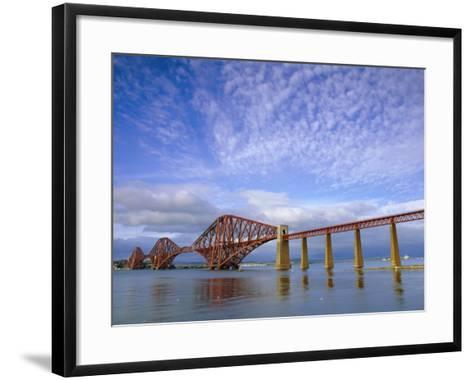 Forth Railway Bridge Over the Firth of Forth, Queensferry Near Edinburgh, Lothian, Scotland, UK-Neale Clarke-Framed Art Print