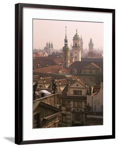 Klementinum Rooftop View (Former Library), Krizovnicke Namesti, Prague, Czech Republic, Europe-Neale Clarke-Framed Art Print