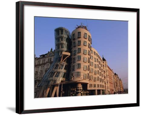 Fred and Ginger Building, Prague, Czech Republic, Europe-Neale Clarke-Framed Art Print