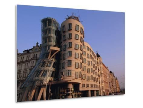 Fred and Ginger Building, Prague, Czech Republic, Europe-Neale Clarke-Metal Print