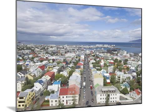 City Centre and Faxafloi Bay from Hallgrimskirkja, Reykjavik, Iceland, Polar Regions-Neale Clarke-Mounted Photographic Print
