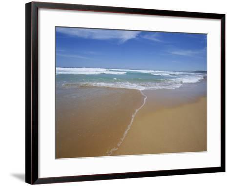 Sand and Surf, Waitpinger Beach, Fleurieu Peninsula, South Australia, Australia, Pacific-Neale Clarke-Framed Art Print