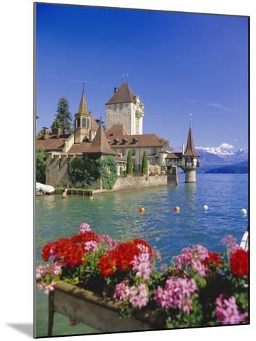 Lake Thun (Thunersee) and Oberhofen Castle, Bernese Oberland, Switzerland, Europe-Simon Harris-Mounted Photographic Print
