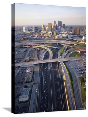 Aerial of Highways Leading to Atlanta, Georgia-Sylvain Grandadam-Stretched Canvas Print