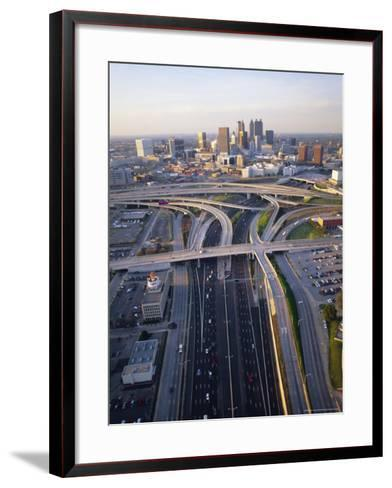 Aerial of Highways Leading to Atlanta, Georgia-Sylvain Grandadam-Framed Art Print