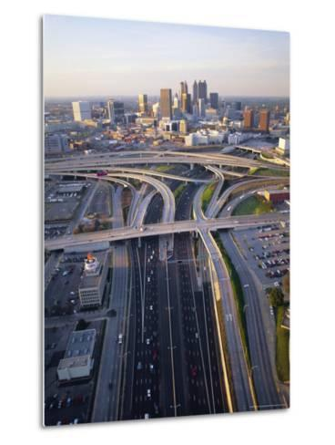 Aerial of Highways Leading to Atlanta, Georgia-Sylvain Grandadam-Metal Print