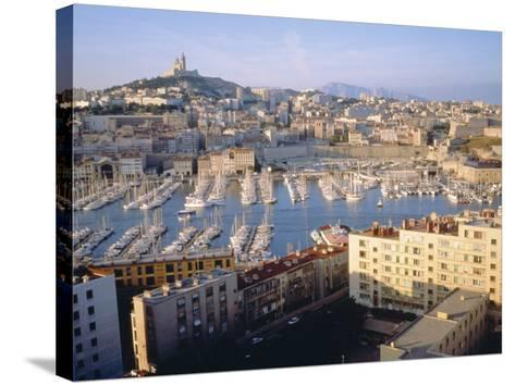 Cityscape of the Port of Marseille, France-Sylvain Grandadam-Stretched Canvas Print