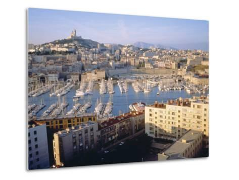 Cityscape of the Port of Marseille, France-Sylvain Grandadam-Metal Print