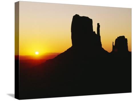 The Mittens, Monument Valley at Sunset, Arizona, USA-Sylvain Grandadam-Stretched Canvas Print