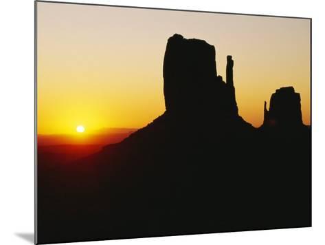 The Mittens, Monument Valley at Sunset, Arizona, USA-Sylvain Grandadam-Mounted Photographic Print