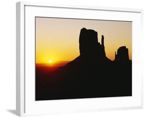 The Mittens, Monument Valley at Sunset, Arizona, USA-Sylvain Grandadam-Framed Art Print