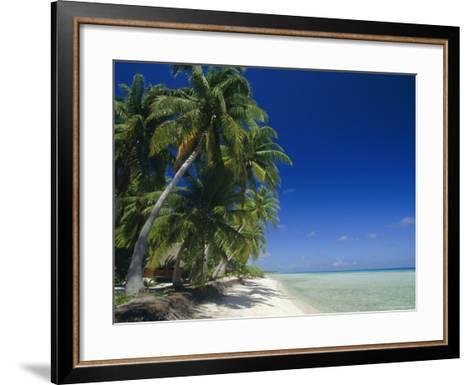 Beach, Rangiroa Atoll, Tuamotu Archipelago, French Polynesia, South Pacific Islands, Pacific-Sylvain Grandadam-Framed Art Print