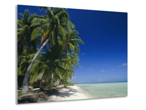 Beach, Rangiroa Atoll, Tuamotu Archipelago, French Polynesia, South Pacific Islands, Pacific-Sylvain Grandadam-Metal Print