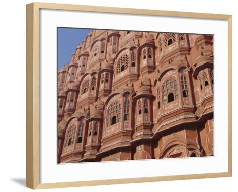 Hawa Mahal, Palace of Winds, Facade from Which Ladies in Purdah Looked Outside, Rajasthan, India-Hans Peter Merten-Framed Art Print