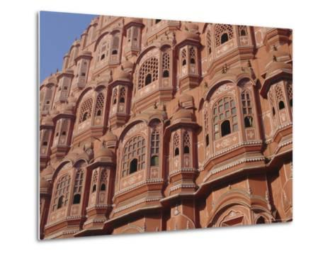 Hawa Mahal, Palace of Winds, Facade from Which Ladies in Purdah Looked Outside, Rajasthan, India-Hans Peter Merten-Metal Print