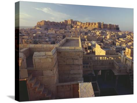 View of Jaisalmer Fort, Built in 1156 by Rawal Jaisal, Rajasthan, India-John Henry Claude Wilson-Stretched Canvas Print