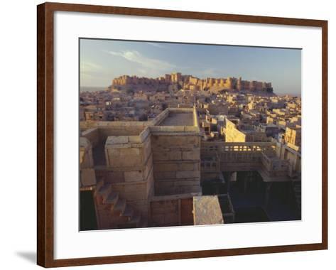 View of Jaisalmer Fort, Built in 1156 by Rawal Jaisal, Rajasthan, India-John Henry Claude Wilson-Framed Art Print