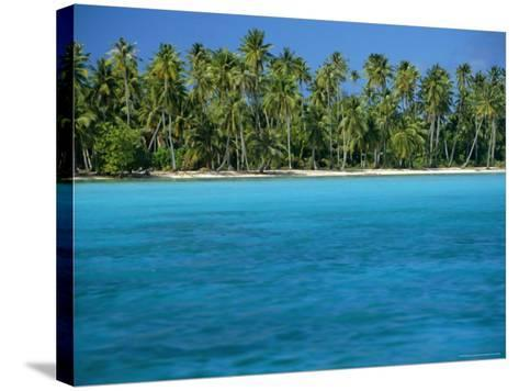 View Over Sea to the Beach, Bora Bora, Leeward Group, Society Islands, South Pacific Islands-Maurice Joseph-Stretched Canvas Print