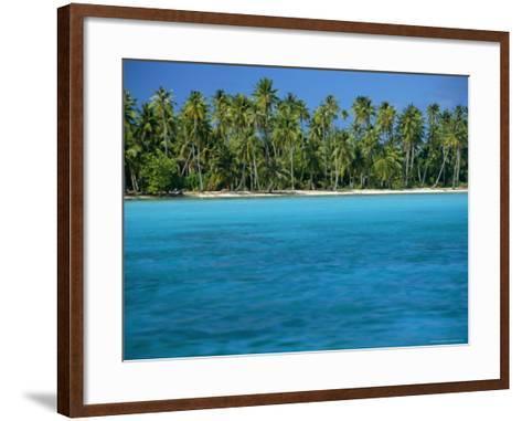 View Over Sea to the Beach, Bora Bora, Leeward Group, Society Islands, South Pacific Islands-Maurice Joseph-Framed Art Print