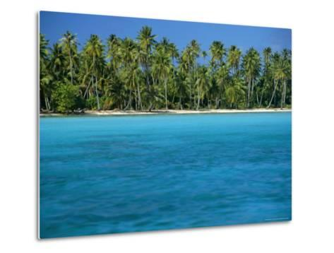 View Over Sea to the Beach, Bora Bora, Leeward Group, Society Islands, South Pacific Islands-Maurice Joseph-Metal Print