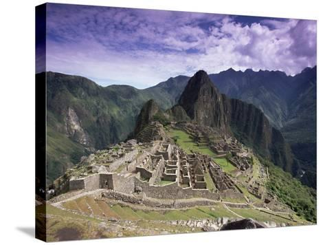 Ruins of Inca City in Morning Light, Urubamba Province, Peru-Gavin Hellier-Stretched Canvas Print