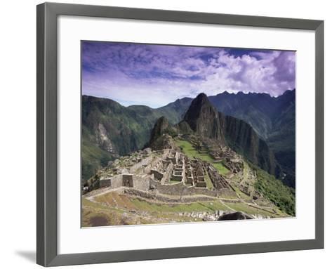 Ruins of Inca City in Morning Light, Urubamba Province, Peru-Gavin Hellier-Framed Art Print